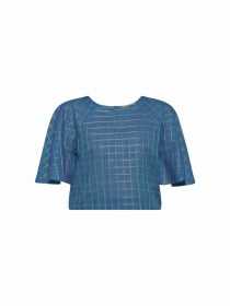 Bombay Paisley Blue Top,online,Bombay Paisley Tops,Bombay Paisley Tops Online,LAdies Crop Tops onlinem Blue crop tops, ladies tops wholesale suppliers in India,ladies top manufacturers
